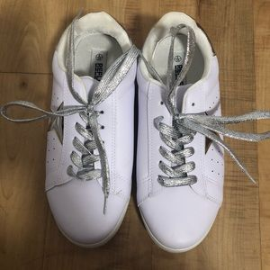 Nasty Gal white star sneakers